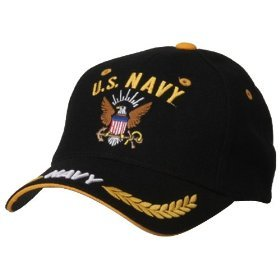 Navy cap adjustable strap black. 1 dz caps. 12 total.