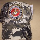Marines Digital Camo style cap. One size fits all adjustable strap. 1 dz caps. 12 total