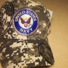 NAVY cap. Digital Camo style. One size fits all. 1 dz caps. 12 total