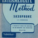 Intermediate Method Saxophone J.E. Skornicka Rubank