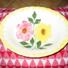 Blue Ridge Pottery Oval Serving Bowl Yellow & Pink Flowers Nice Piece