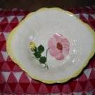 Blue Ridge Pottery Lot of 4 Handled Bowls Yellow & Pink Flowers