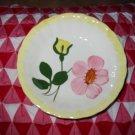 Blue Ridge Pottery Bowl Small Yellow & Pink Flowers Nice Piece