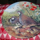 Red Legged Partridge By Derek Braithwaite Collector Plate Royal Grafton Very Pretty