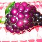 Elegant Stem Of Glass Grapes Very Pretty Item
