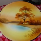 Noritake Hand Painted Handled Serving Plate With Wonderful Country Scene