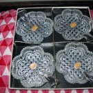 Bohemia Glass Clover Dish Set Of 4 Complete With Original Box And Labels Never Used