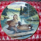 The Blue Winged Teal by Bart Jerner Collector Plate 1988