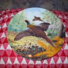 Pheasants In Flight by Derek Braithwaite Collector Plate 1987