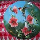 The Hummingbird by Kevin Daniel Collector Plate 1986