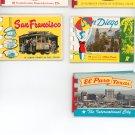 Vintage Souvenir Prints Booklets Lot Of 5