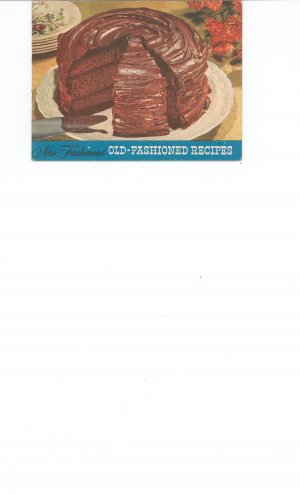 Vintage Old Fashioned Recipes by Church and Dwight Co. --- Arm & Hammer  Cow Brand Baking Soda