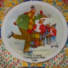 The Skating Lesson by Joseph Csatari Grandparent Plate 1981  Collector Plate  Shipping Special