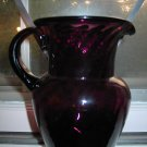 Amethyst Swirl Pitcher Hand Blown Large Very Unique