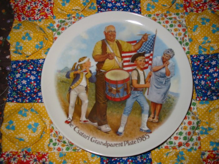 The Patriots Parade by Joseph Csatari Grandparent Plate 1985  Collector Plate  Shipping Special
