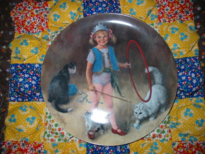 Maggie The Animal Trainer Collector Plate by John McClelland Shipping Special