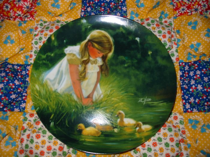 Golden Moment Collector Plate by Donald Zolan Shipping Special