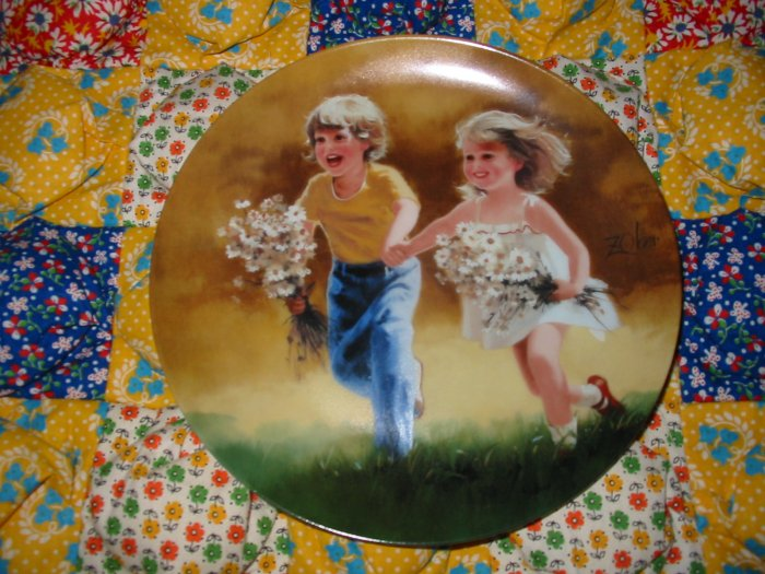 Dozens Of Daisies Collector Plate by Donald Zolan Shipping Special