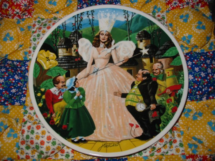 Follow The Yellow Brick Road Wizard of Oz by James Mickland Collector Plate Shipping Special
