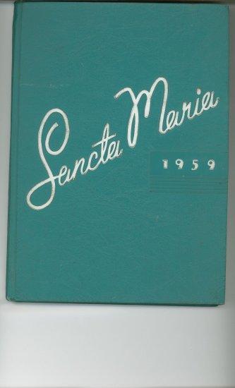 1959 Sancta Maria Year Book Yearbook Niagara Falls New York