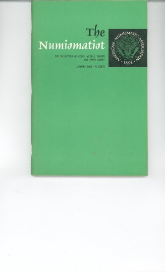 The Numismatist January 1968 Vintage by American Numismatic Association Very Nice Coin Book Guide