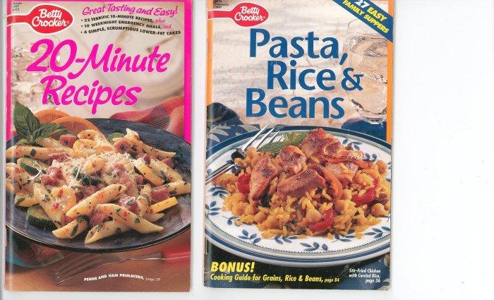 Betty Crocker  Lot Of 2 Recipe Books Cookbook