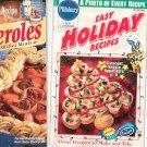 Pillsbury  Lot Of 2 Recipe Books Cookbook