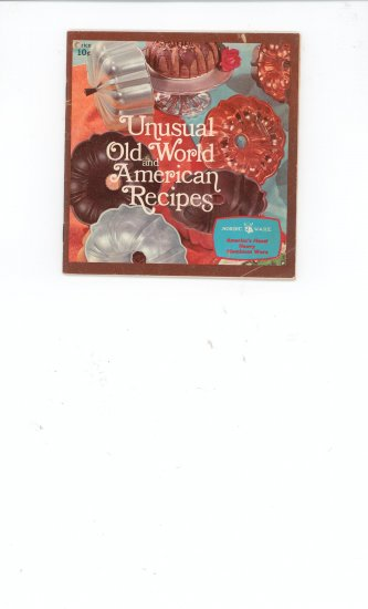 Vintage Unusual Old World And American Recipes by Nordic Ware Very Nice Piece