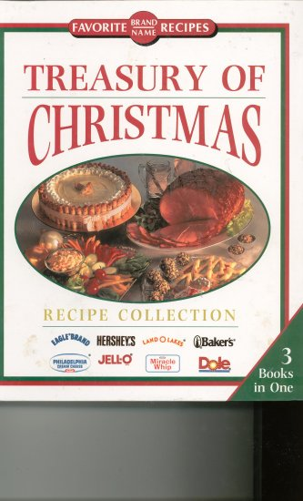 Treasury Of Christmas Cookbook by Favorite Brand Name Recipes