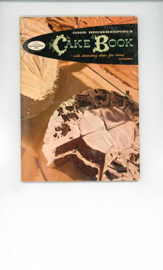 Cake Book Cookbook Vintage Over 50 Years Old