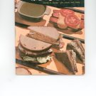Book Of Breads & Sandwiches Cookbook Vintage Over 50 Years Old