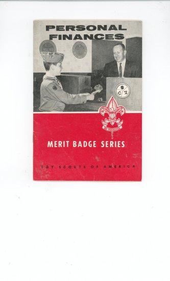 Vintage Boy Scout Personal Finances Merit Badge Series Book BSA