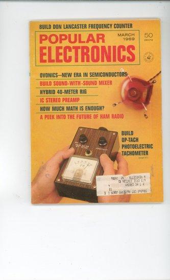 Popular Electronics Vintage Item March 1969 Not PDF
