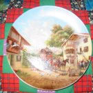 Arrival Of The Stagecoach Collector Plate by Christian Luckel Shipping Special