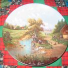 The Anglers Pleasure Collector Plate by Christian Luckel Shipping Special