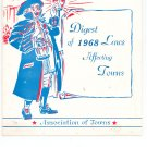 Digest Of 1968 Laws Affecting Towns Association of Towns New York State Vintage Item