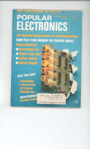 Popular Electronics Vintage Item February 1968