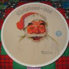 Santa Claus Collector Plate Christmas 1988 Norman Rockwell