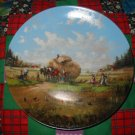 In The Fields At Harvest Time Collector Plate by Christian Luckel Shipping Special