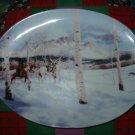 Mid Winter Passage Collector Plate by Mark Silversmith Ancient Seasons Series