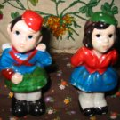 Vintage Boy and Girl Salt and Pepper Shakers Very Cute