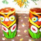Vintage Totem Pole Salt and Pepper Shakers Very Nice