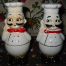 Vintage Chef Salt and Pepper Shakers Very Nice
