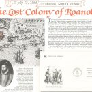 Roanoke Voyages & Horace Moses First Day Cover Stamp Lot Of 2 by Readers Digest