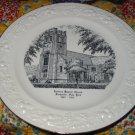 Calvary Baptist Church Souvenir Plate Rochester New York  Vintage Item World Wide Art Studios