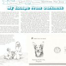 National Guide Dog & Albert Einstein First Day Cover Stamp Lot Of 2 by Readers Digest