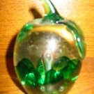 Awesome Glass Paperweight Marked Joseph A Rice Very Pretty Green Fruit