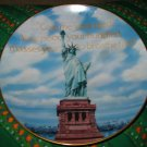 First In American Monuments Gorham Statue Of Liberty by Hagel Collector Plate With Box & Certificate