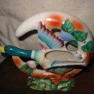 Wall Pocket Goose Duck With Vine Design Vintage Item Japan