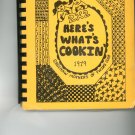 2 X 2 Heres Whats Cookin Cookbook Vintage Item